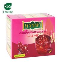 ขาวละออ กระเจี๊ยบผงชงละลาย ชูการ์ฟรี 1 กล่อง (8 ซอง) | Khaolaor Rosella Instant Drink Mix Sugar Free 1 box (8 Sachets)
