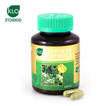 ขาวละออ โมรินกาแคปซูล ผลิตภัณฑ์เสริมอาหาร ใบมะรุม 100 แคปซูล 1 กระปุก | Khaolaor Moringa Capsule 100 Capsule 1 box