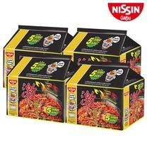 บะหมี่กึ่งสำเร็จรูป นิสชิน พรีเมี่ยม รสไก่เผ็ดเกาหลี Pack (5X4 20 ซอง)