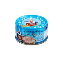 SUPER C CHEF ปลาทูน่าสเต็กในน้ำแร่ แพค 4 กระป๋อง UKU 101577