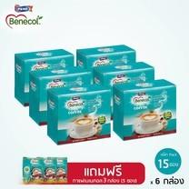 BENECOL COFFEE กาแฟปรุงสำเร็จผสมแพลนท์สตานอล (แพ็ก 15 ซอง) x 6 กล่อง แถมฟรี 3 กล่อง (แพ็ค 5 ซอง)