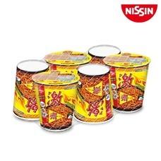 บะหมี่กึ่งสำเร็จรูป นิสชิน คัพพรีเมี่ยม รสเผ็ดเกาหลีเจ (แบบแห้ง) 6 ถ้วย SKU 505365
