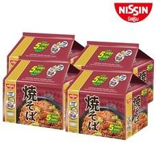 บะหมี่กึ่งสำเร็จรูป นิสชิน พรีเมี่ยม รสยากิโซบะ ซอสญี่ปุ่น Pack (5X4 20 ซอง)