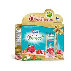 [Happy New Year] Benecol รสทับทิมและสตรอว์เบอร์รี่ (แพ็ก 6 กล่อง x 6 แพ็ก) 36 กล่อง