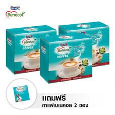 BENECOL COFFEE กาแฟปรุงสำเร็จผสมแพลนท์สตานอล (แพ็ก 15 ซอง) x 3 กล่อง แถม 2 ซอง กาแฟปรุงสำเร็จตราเบเนคอล