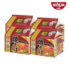 บะหมี่กึ่งสำเร็จรูป นิสชิน พรีเมี่ยม รสยากิโซบะ ซอสญี่ปุ่น Pack *สูตรใหม่* (5X4 20 ซอง)