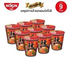 บะหมี่กึ่งสำเร็จรูป นิสชินคัพ พรีเมี่ยม รสซุปเกาหลีฮอตแอนด์สไปซี่ Pack 9 ถ้วย