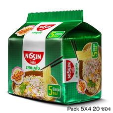 บะหมี่กึ่งสำเร็จรูป นิสชิน รสหมูสับ Pack (5X4 20 ซอง)