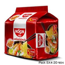 บะหมี่กึ่งสำเร็จรูป นิสชิน รสต้มยำกุ้งแซบ Pack (5X4 20 ซอง)