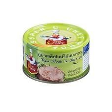 SUPER C CHEF ปลาทูน่าสเต็กในน้ำมันมะกอก แพค 4 กระป๋อง SKU 101549
