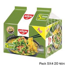 บะหมี่กึ่งสำเร็จรูป นิสชิน รสเล้งแซ่บ Pack (5X4 20 ซอง)