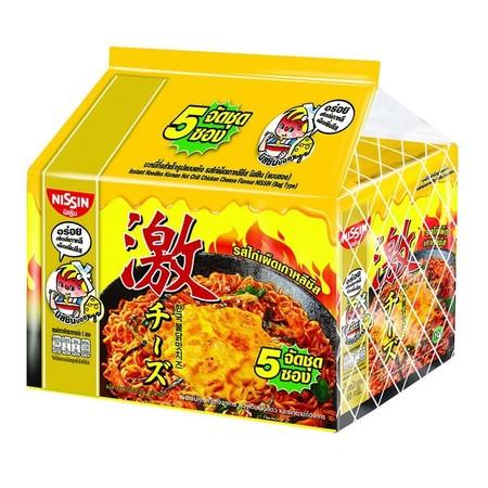 บะหมี่กึ่งสำเร็จรูป นิสชิน พรีเมี่ยม รสไก่เผ็ดเกาหลีชีส Pack (5X4 20 ซอง)