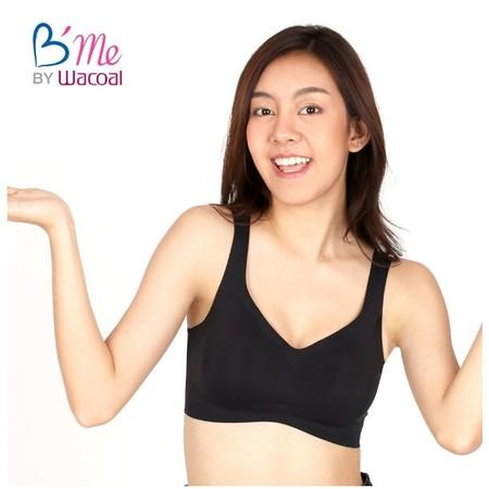 B'ME BY WACOAL เสื้อชั้นใน บีมี WIRELESS BRA รูปแบบสวมหัว รุ่น ME1D59 สีดำ (BL)