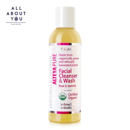 Alteya Organics|Pure Facial Cleanser & Wash - Rose & Jasmine