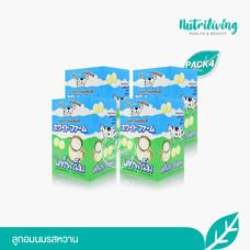 White Farm ลูกอมนมรสหวาน จำนวน 4 กล่อง (กล่องละ 12 ซอง)