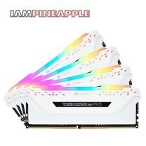 Corsair Vengeance RGB Pro 64GB (4x16GB) DDR4 DRAM 3200MHz C16 Memory Kit [White]
