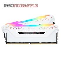 Corsair Memory Vengeance RGB Pro 32GB (2x16GB) DDR4 DRAM 3000MHz C15 Kit [White]