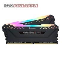 Corsair Memory Vengeance RGB Pro 16GB (2x8GB) DDR4 DRAM 2666MHz C16 Kit [Black]