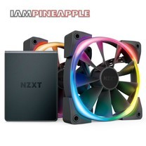 NZXT Fan AER RGB2 120 Twin Starter Pack with HUE2 Controller