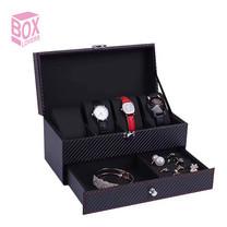 Boxlovershop กล่องเก็บนาฬิกา และเครื่องประดับ รุ่น WB-002 - สีดำ