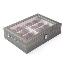 Boxlovershop กล่องเก็บแว่นตา 8 ช่อง รุ่น WS-001 - สีเทา