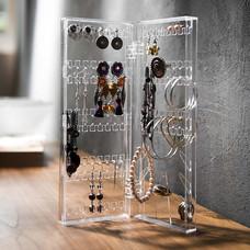 Boxlovershop แท่นแขวนแหวน-ต่างหู แบบบานพับ รุ่น EAR-003