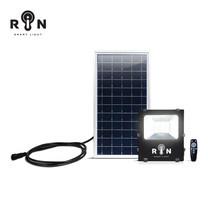 RIN ไฟ Solar Sensor Flood Light สี่เหลี่ยม 50W 91LED + รีโมท