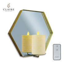 CLAIRE เทียน LED ชุดแขวนตกแต่งหกเหลี่ยม พร้อมรีโมท - สีขาว