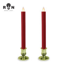 RIN เชิงเทียน LED 27.5 ซม. รุ่น วิ้งกด - สีแดงฐานทอง
