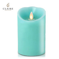 CLAIRE เทียน LED 4 นิ้ว รุ่น Wax Lagoon - สีฟ้า