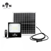 RIN ไฟ Solar Sensor Flood Light สี่เหลี่ยม 100W 168LED + รีโมท