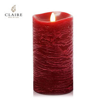 CLAIRE เทียน LED 7 นิ้ว รุ่น Wax Rose - สีแดงลายน้ำ