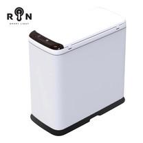 RIN ถังขยะระบบเซ็นเซอร์เปิดปิดอัตโนมัติ เหล็กคาร์บอน ความจุ 9 ลิตร