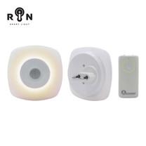 RIN ไฟ Nightlight Warm White PLUG IN 12 LED 1 ชิ้น + รีโมท