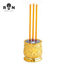 RIN ธูปไฟฟ้า LED 28 ซม. 3 ดอก  - สีเหลืองทอง
