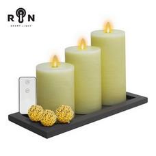 RIN เทียน LED ชุด 3 ชิ้น พร้อมรีโมท - สีขาว