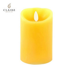 CLAIRE เทียน LED 4 นิ้ว รุ่น Wax Vanilla - สีเหลือง