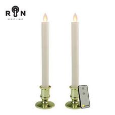 RIN เชิงเทียน LED 25 ซม. พร้อมรีโมท รุ่น วิ้งกด - สีขาวฐานทอง