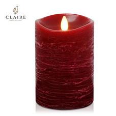 CLAIRE เทียน LED 5 นิ้ว รุ่น Wax Rose - สีแดงลายน้ำ