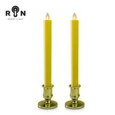 RIN เชิงเทียน LED 27.5 ซม. รุ่น วิ้งกด - สีเหลืองฐานทอง