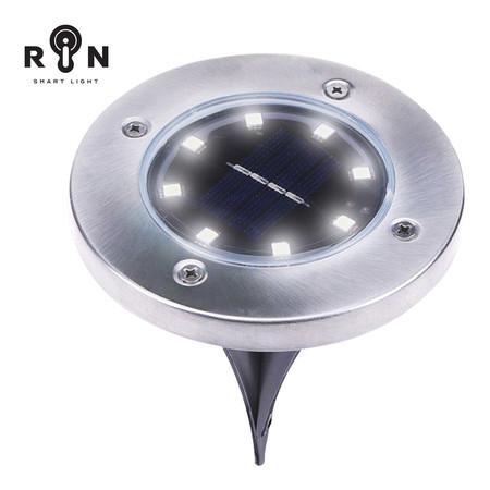 RIN ไฟ Solar Nightlight ปักพื้นวงกลม 8LED