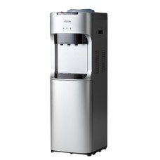 เครื่องทำน้ำร้อน-เย็น พลาสติก 3 ก๊อก พร้อมตู้เย็นด้านล่าง รุ่น VT-2335R สีเทา