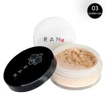 แป้งฝุ่นรัน RAN Smooth skin loose face powder Ran03 : Golden tan 5g แป้งฝุ่นเนื้อใยไหม