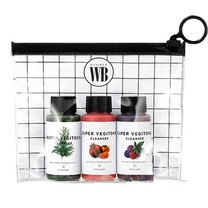 Wonder Bath Super Vegitoks Cleanser Travel Set 3 ชิ้น x 30ml คลีนซิ่งผัก