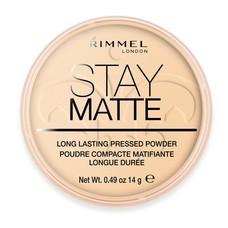 Rimmel London Stay Matte Long Lasting Pressed Powder No.1 #Transparent 14g