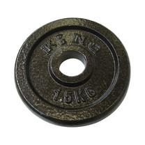 KING แผ่นน้ำหนัก สำหรับดัมเบล และบาร์เบล ขนาดแกน 30 มม. น้ำหนัก 1.5 กก. (แผ่น)