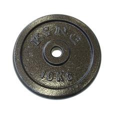 KING แผ่นน้ำหนัก สำหรับดัมเบล และบาร์เบล ขนาดแกน 30 มม. น้ำหนัก 10 กก. (แผ่น)