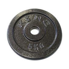 KING แผ่นน้ำหนัก สำหรับดัมเบล และบาร์เบล ขนาดแกน 30 มม. น้ำหนัก 5 กก. (แผ่น)