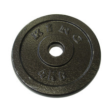 KING แผ่นน้ำหนัก สำหรับดัมเบล และบาร์เบล ขนาดแกน 30 มม. น้ำหนัก 4 กก. (แผ่น)
