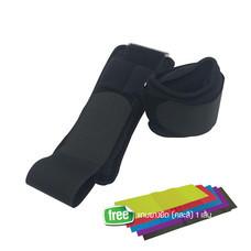 EXERCISE ถุงทรายข้อเท้า/ข้อมือ น้ำหนัก 1.5 กก./คู่ (ข้างละ 0.75 กก.) DP-780KB สีดำ ผ้าไลครา ภายในบรรจุเม็ดเหล็ก แถมแถบยางยืด 1 เส้น คละสี